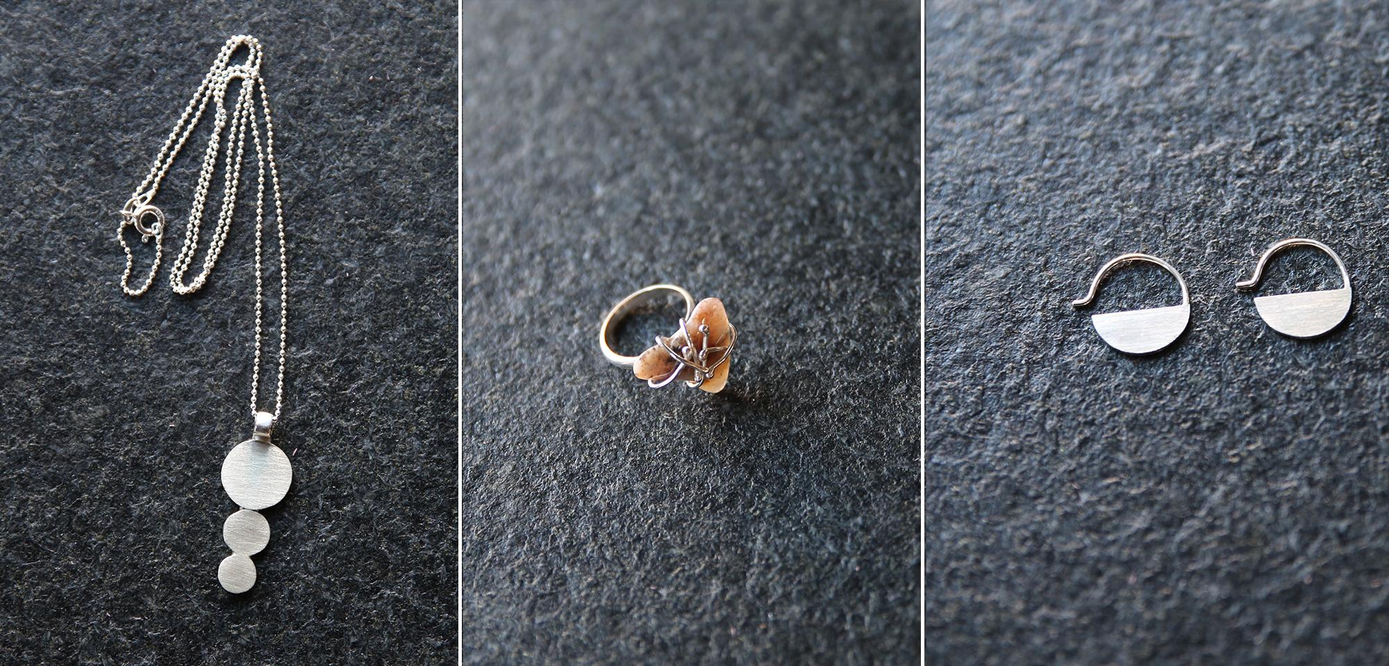 Her er lidt eksempler på smykker, som du kan lave i faget Smykkedesign